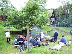 táborák na samotě ve Ždíreckém Dolu