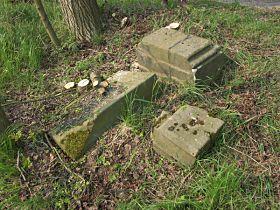 Kamenné části památky po vyčištění místa, 6.5.2006