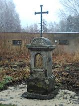 Kříž u výjezdu z Nového Boru na Českou Lípu - 16.12.2013