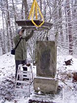 Reparatur des Kreuzes, 20.11.2004