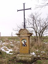 Kříž u cesty do České Lípy - srpen 2007