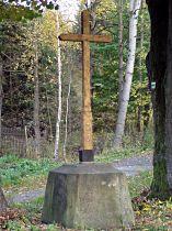 Dřevěný kříž v Martinově Údolí - 22.10.2005