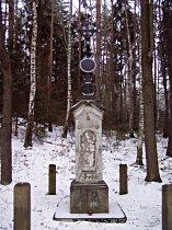 Kreuz unter dem Berg Trávnický vrch - Dezember 2007