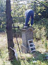 Reparatur des Kreuzes, 11.10.2005