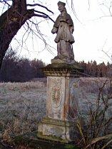 Stav sochy před opravou