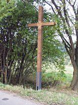 Kříž před upevněním plechového korpusu, 4.10.2005