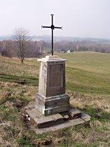 Kreuz an der Strasse nach Mimoň - Januar 2007