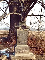 Kříž u cvikovské silnice - prosinec 2003