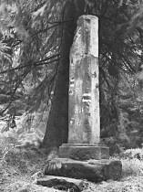 Třípanský sloup - torzo sloupu v roce 1995