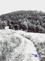 Místo, kde stával kříž pod Plešivcem