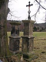 Kamenné sloupy v Dolním Šenově - prosinec 2007