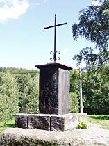 Kříž u silničky z Juliovky do Hamru - 26.8.2005