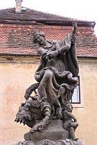 Reparierte Statue
