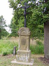 Kreuz an der Abzweigung der Strasse nach Maxov - 12.6.2004