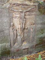 Reliéf Ukřižování za obcí - září 2006