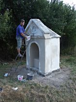 Reparatur der Kapelle, 7.8.2004