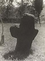 Historická Qiesserova fotografie kříže, 1937 (zdroj: archiv Děčín)