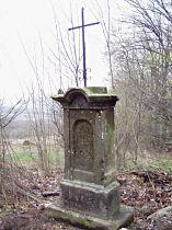 Kříž u silnice z Tanečku - 17.4.2005