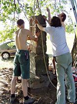 obnova soklu kříže, 20.7.2003