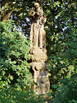 Socha sv. Antonína u silnice do Zahrádek