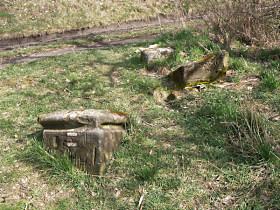 Stav kříže před opravou, březen 2008
