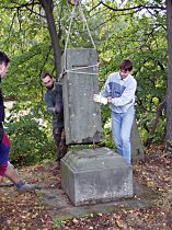 Reparatur des Kreuzes, 24.9.2003