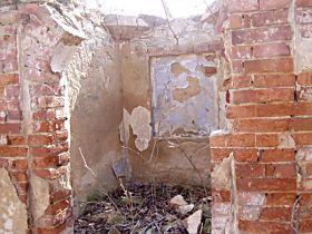 Stav kapličky před opravou, 13.4.2003