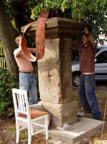 Reparatur des Kreuzes, 29.8.2004