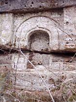 Skalní výklenek ve Ždíreckém dolu - 6.3.2004