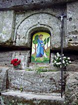 Obraz sv. Jana Křtitele ve Ždíreckém dolu před odcizením - 25.6.2004